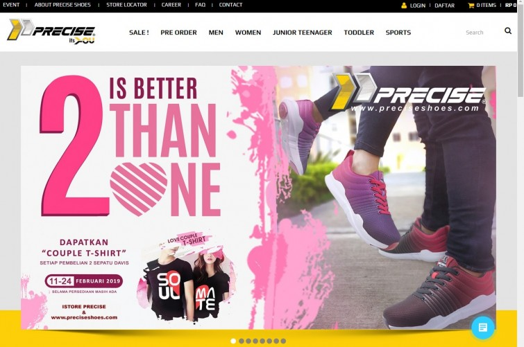 web-design-jakarta-for-precise-shoes-indonesia