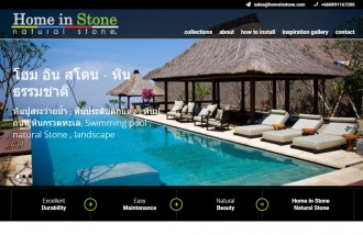 home-in-stone - Web design surabaya