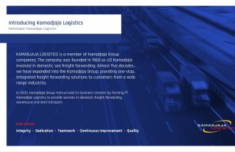 company-profile-design-for-kamadjaja-logistics - Web design surabaya
