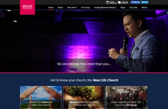 new-life-church - Web design surabaya