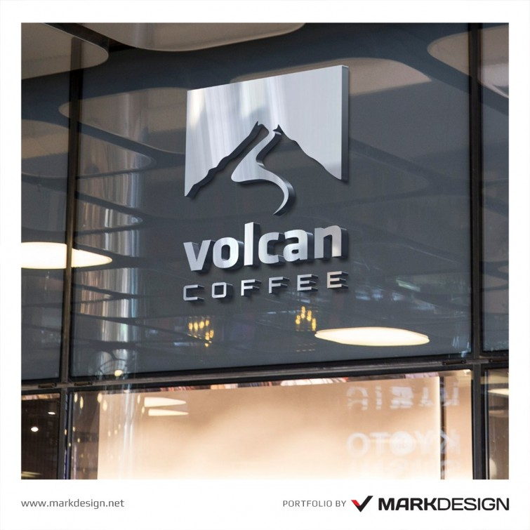 volcan-coffee-logo-design