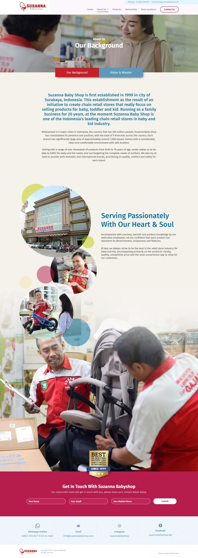 Suzanna Baby Shop Website Design Jakarta Surabaya ...