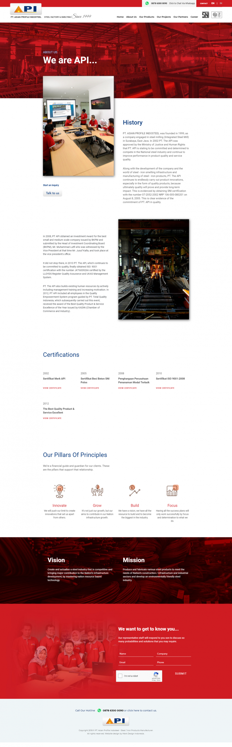 pt-asian-profile-indosteel-website-design-jakarta-surabaya